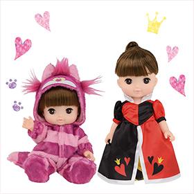 限定デザイン!<br>チェシャ猫 コスチュームを着たレミン&ハートの女王 コスチュームを着たソラン